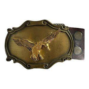 Vintage 1980 Raintree Duck Belt Buckle W/ Leather